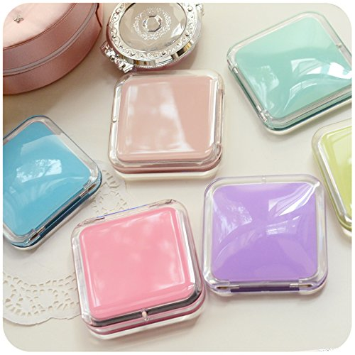 Childrens Mirror Mini Square Simple Candy Small Glass Mirrors Circles for Crafts Decoration Cosmetic Accessory Yellow by Yingealy (Image #7)