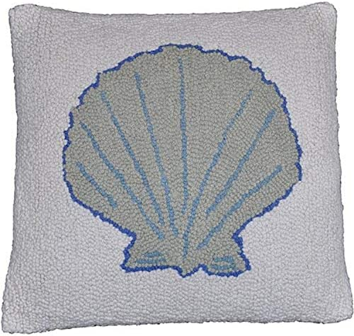 Be-You-tiful Home Sea Shell Wool Hook Pillow