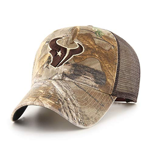 OTS NFL Houston Texans Male Ledgewood Challenger Adjustable Hat, Realtree, One - Texans Hat Houston