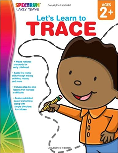 amazon let s learn to trace ages 2 spectrum early years inc