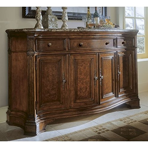 Marble Top Buffet Sideboard (Universal Furniture Villa Cortina Storage Credenza with Marble Top Drawer)