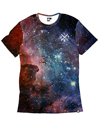 Best Work Graphic Tee (INTO THE AM Milky Way Men's Casual Tee Shirt (2X-Large))