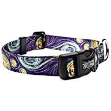 Dutch Dog Amsterdam DDCLGH25 Eco Friendly Van Gogh Dog Collar, 20-25-Inch, Large