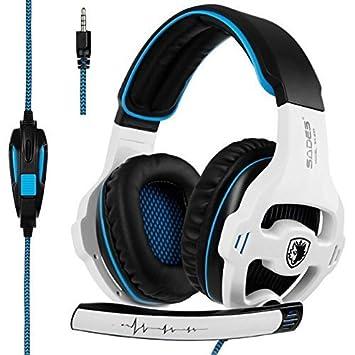 Sades [última versión del Juego de Auriculares Xbox One] SA810 Sobre el oído estéreo