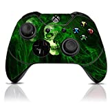 (Green Skull) Custom Xbox One Controller with Exclusive Design Vinyl Skin Decal Uniquely Hand Painted and Air-Brushed For Sale