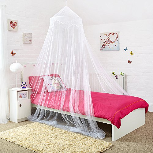 Amazon.com Canopy for Girls Bed - Quick and Easy To Hang Bedroom Accessories Bed Canopy with Beads for Girls Bedroom Decor Home u0026 Kitchen & Amazon.com: Canopy for Girls Bed - Quick and Easy To Hang Bedroom ...