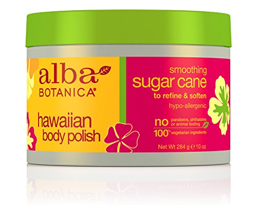 Alba Botanica Hawaiian, Sugar Cane Body Polish, 10 - Hawaiian Body Scrub Alba