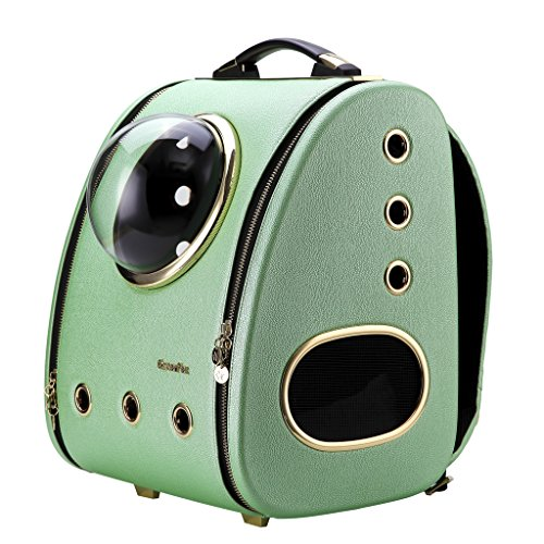 Stroller Green Bubbles - CLOVERPET Luxury Cats Dogs Puppy Pet Travel Bubble Carrier Backpack,Mint Green