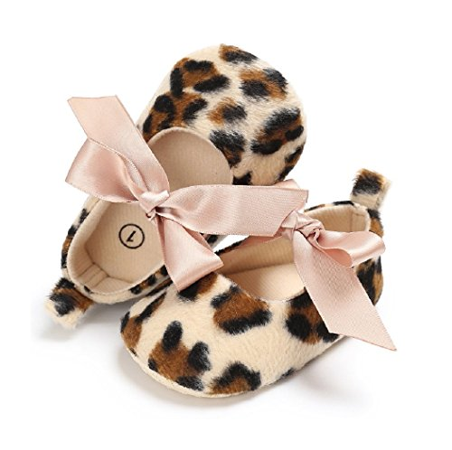 New Leopard Baby Girls Princess Shoes Lace Bow Toddler Soft Soled Non-Slip Prewalker Crib Newborn Baby Mary Jane Footwear (1)
