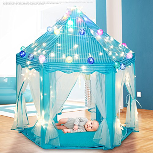 Children Play Tent - BESUNTEK Pop Up Princess Castle Play...