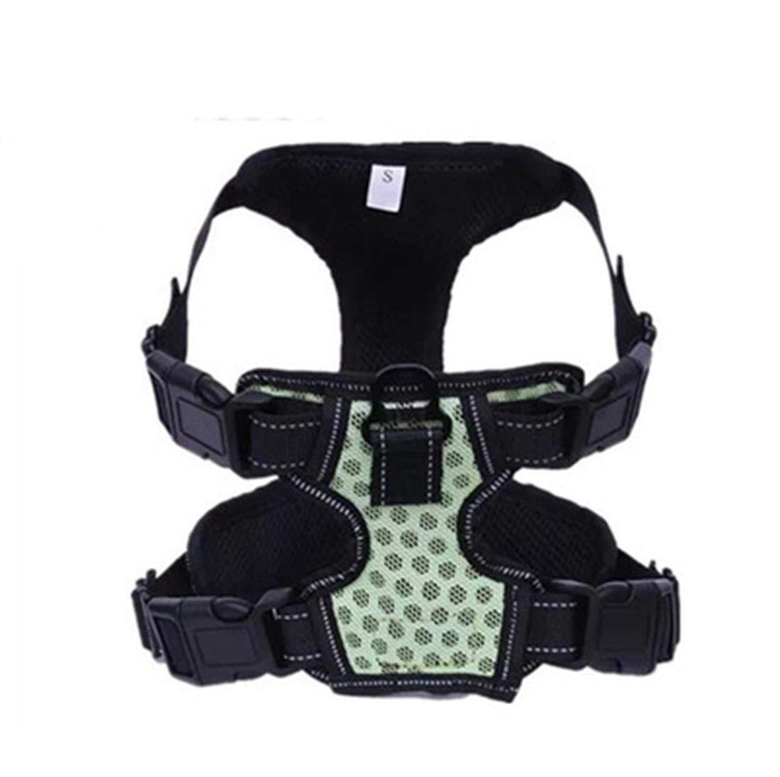 Green Medium Green Medium Pet Dogs No Pull Reflective Harness Adjustable, Soft, Breathable, Lightweight Dog Harness for Small, Medium, Large Dogs,Green,M
