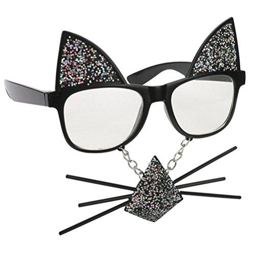 barba del gato la Atrezzo Gafas de de Gafas partido de decoración Accesorios disfraces para Night Good sol 60TTq