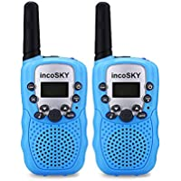 incoSKY Walkie Talkies for Kids 22 Channel FRS/GMRS Handheld 2 Way Radio 3 KM Long Range and Clear Sound (1 Pair) Blue, TS31