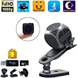 Spy Camera Wireless Hidden Gupacido Hidden Camera Mini Camera with 16GB TF Card& Card Reader HD 1080P/720P Wireless Small Portable Night Vision Motion Detection Spy Cam for Home, Car, Drone, Office