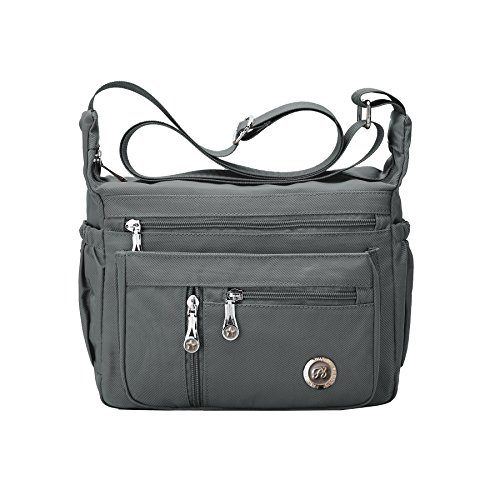 Fabuxry Purses and Shoulder Handbags for Women Crossbody Bag Messenger Bags (Grey)