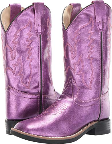Old West Kids Boots Baby Girl's Gina (Toddler/Little Kid) Shiny Pink 2 M US Little Kid