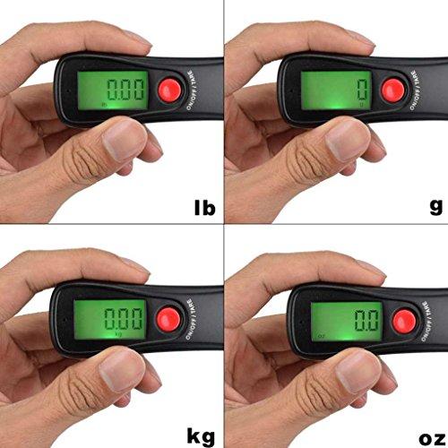 WH-A18L 50 kg x 10g Escala de cinturón digital Pantalla LCD Balanza de peso electrónico Peso del equipaje de pesca Steelyard Regard: Amazon.es: Bricolaje y ...