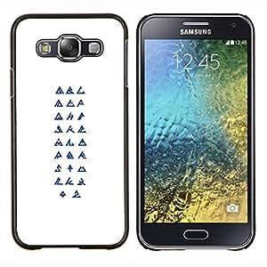 TECHCASE---Cubierta de la caja de protección para la piel dura ** Samsung Galaxy E5 E500 ** --Símbolos Religión Arte Secreto