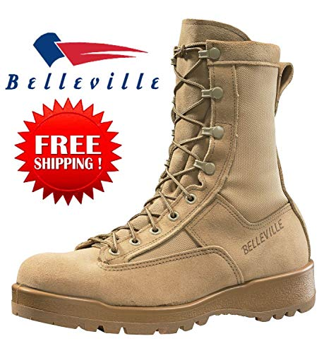 Belleville 790G Men's GI Desert Military Army Waterproof Goretex Temperate Flight Military Combat Boots TAN-Size 9.5R &10R Made in USA (9.5- Regular)