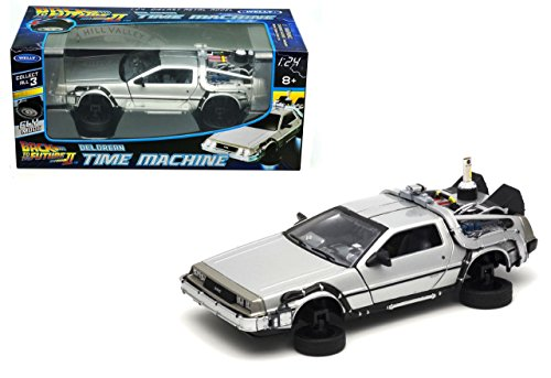 De Lorean DMC 12 Flying version Diecast Model Car from Back To The Future Part 2 (Delorean License Plate Back To The Future)