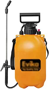 5 L Pump Action Pressure Sprayer, Spray Bottle Yellow Sprayer Knapsack Spray Weed Killer Garden