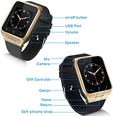 Excelvan PW6-G Smartwatch Movil 3G Libre (Android 4.4, Dual Core ...