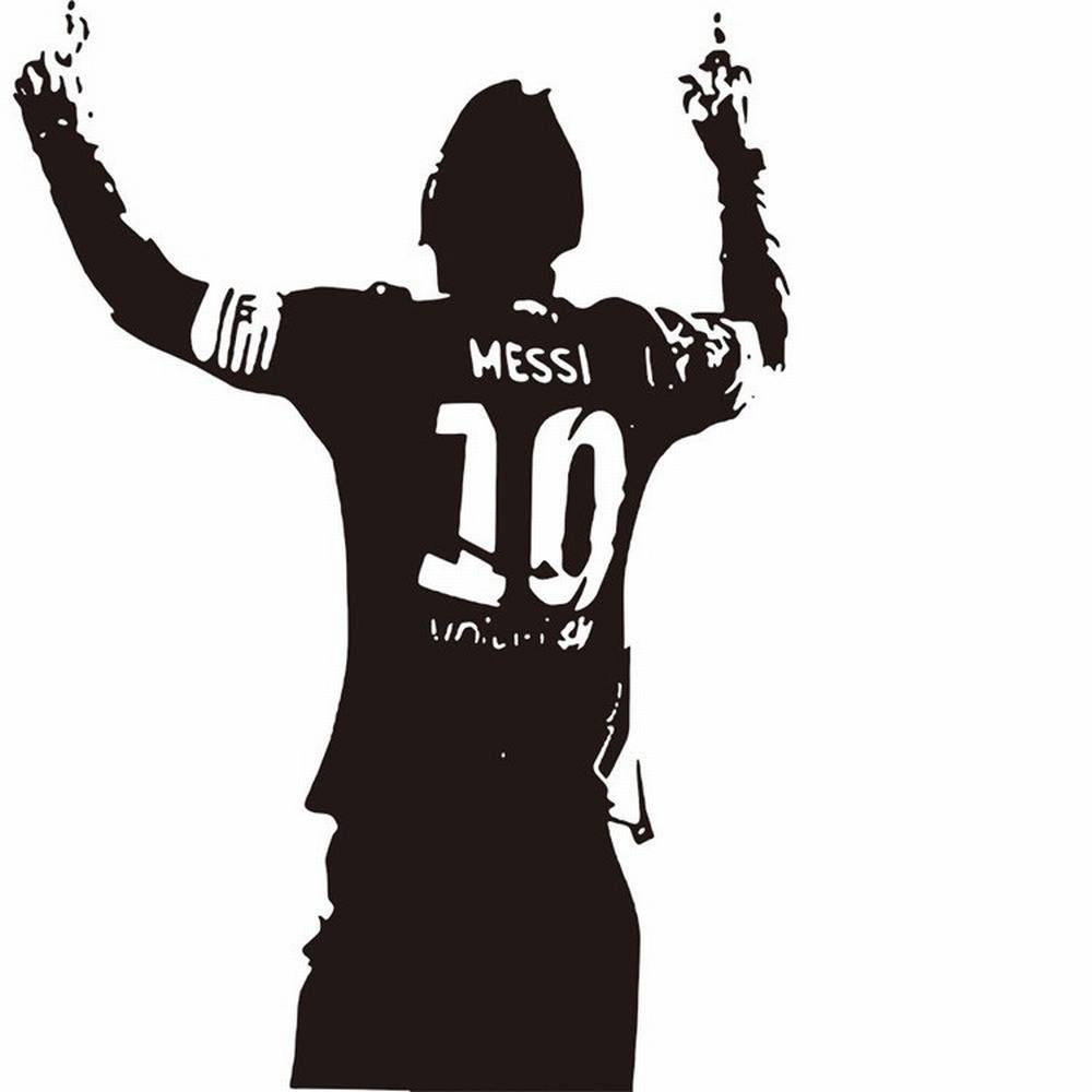 Amazon com kwokguo wall stickers messi scored a goal vinyl decals home decor for kids bedroom sportsman sport boy guy room home kitchen
