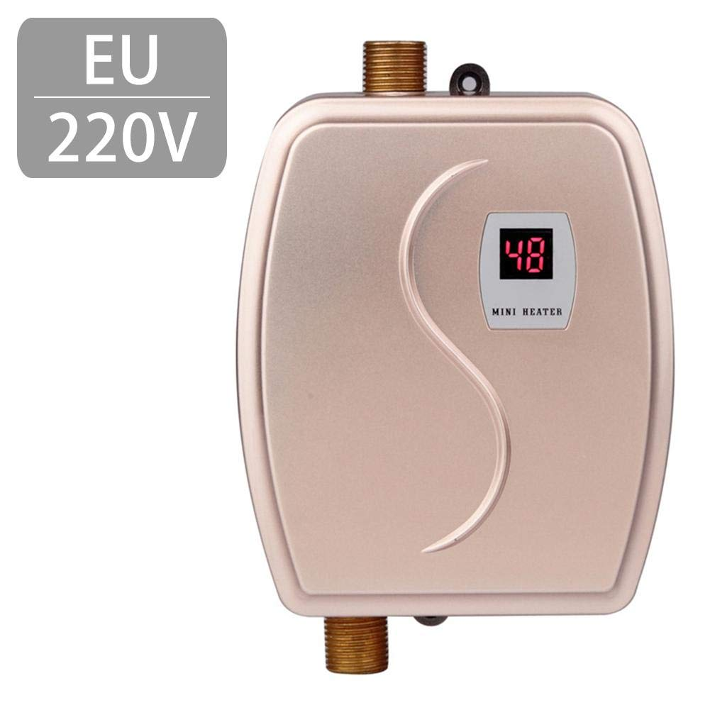ELEC TECH Electric Water Heater Instant Faucet Electric Kitchen Fast Heating Constant Temperature Domestic Hot and Cold Dual-use Mini Water Heater Water Heater