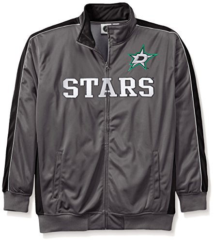 Profile Big & Tall NHL Dallas Stars Men's Reflective Track Jacket, 3X, Charcoal/Black