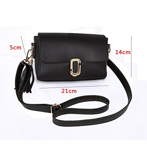 Shoulder Version Package Korean Summer Gray Chain Color Mini The Wild Handbags Oblique of Package Simple Backpack Black 5XqXOEw