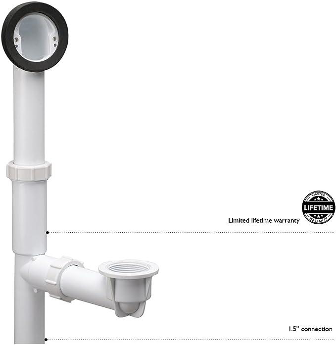 Design House Parts Accessories 522458 Pvc Bath Drain Rough In Kit White Drain Stoppers Amazon Com