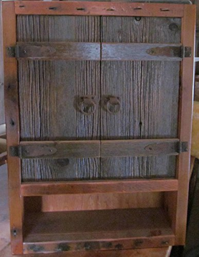 - Barn Wood Over Toilet Cabinet