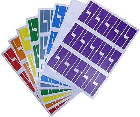 Amazon.com: Mini Skater 240 etiquetas de 8 hojas coloridas ...