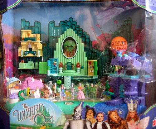 The WIZARD of OZ Play Set w LIGHTS & Polly Pocket MINI Size FIGURES (2001) ()