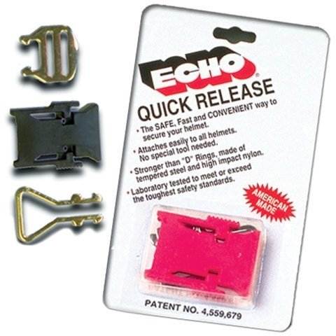 M2005 Snell Helmet - Echo Helmet Quick Release Red