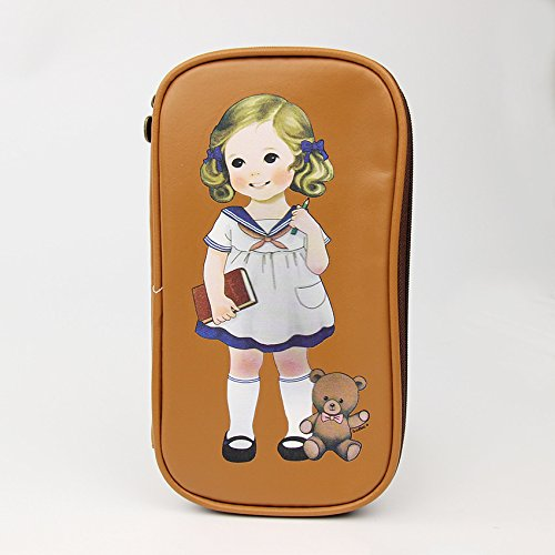 Meat Suit Costume (1 PC Korea Cute Little Girl and Bear Pencil Case Stationery Bag Office Supplies PU Bag for Children Gifts (Brown))