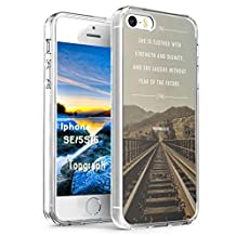 Topgraph Iphone 5 Case Christian Quotes, Apple Iphone 5S Hard Slim Case Bible Verse Proverbs 31:25 She Is Clothes In Strength And Dignity And She Laughs Without Fear Of The Future