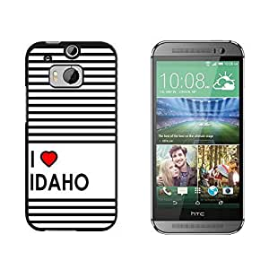 I Love Heart Idaho - Snap On Hard Protective Case for HTC One M8 - Black by ruishername