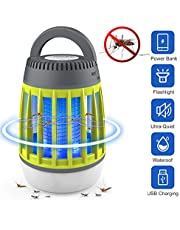 Dkinghome Bug, Mosquito Killer UV Lamp Camping Lantern LED 3 in 1 Insect Control Repellent Trap Fly Zapper Portable Electric Waterproof USB Rechargeable for Indoor&Outdoor (Green)