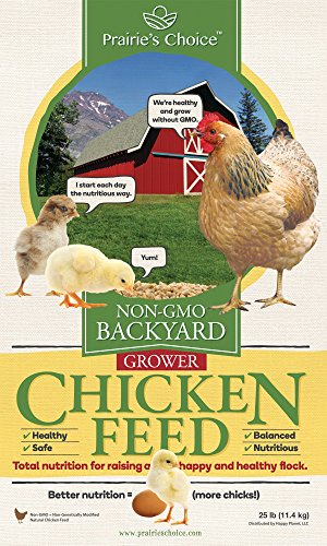 - Prairie's Choice Non-GMO Backyard Chicken Feed - Grower Formula, 25lbs