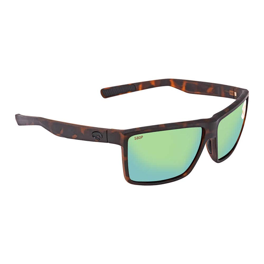 Costa Rinconcito Matte Tortoise Plastic Frame Green Lens Unisex Sunglasses RIC191OGMP