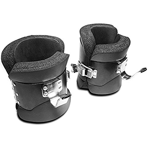 Ranbo hanging pull up boots,1 pair black anti gravity inversion hang up boots therapy gym fitness physio hang spine posture with comfortable foam padding and safe locking clips