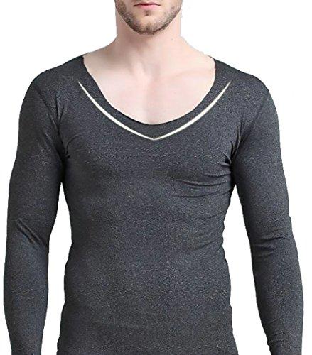 Autumn and winter men's thermal underwear sets(Dark Grey) - 1