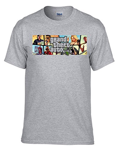 GTA V GTA 5 Grand Theft Auto 5 Rockstar Jogos Games T-shirt -288 Grau
