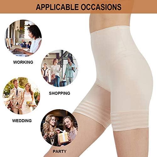 Vvarschi Shapewear Shorts for Women Tummy Control, Thigh Slimmer Hi-Wasit Shaper