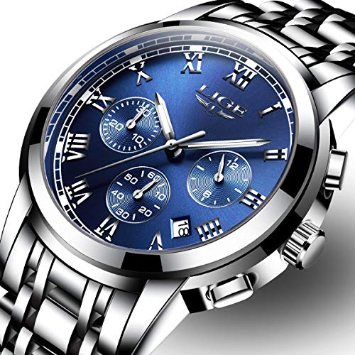 Mens Watches Fashion Sports Quartz Watch Stainless Steel Men Business Luxury Simple Style Business Watch Waterproof