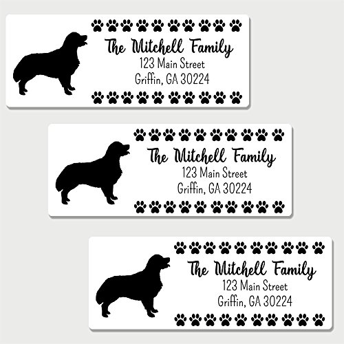 60 Personalized Golden Retriever Themed Return Address Labels - Dog Themed Address Labels (AL25)
