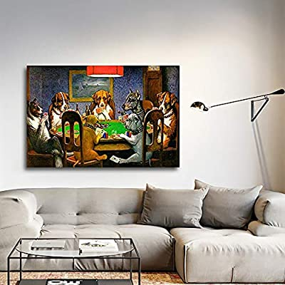 Dogs Playing Poker (A Friend In Need) by CM Coolidge - Canvas Art