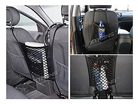 70 x 70cm XTRONS/® Universal Rear Car hatchback Rear Trunk Cargo Storage Luggage Nylon Net plus mounting
