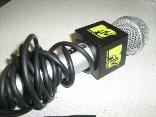 MTV The Singing Machine Microphone - Karaoke Microphone - SMM-200 - Classic Black & Yellow Mic - Used Very Good Condition MTV Microphone